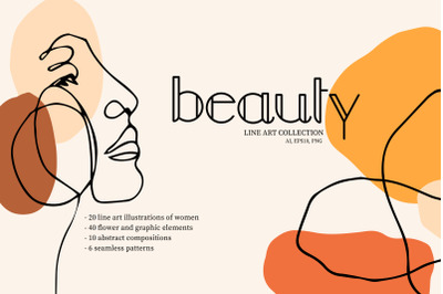 Beauty. Line Art Collection