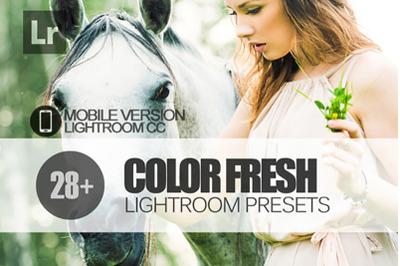 28 Color Fresh Lightroom Mobile Presets
