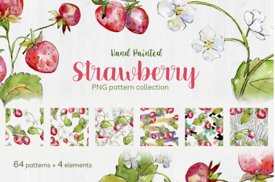 Sweet Watercolor Strawberry PNG