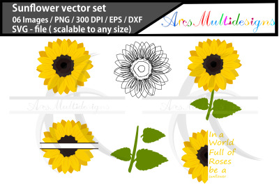 Sunflower On All Category Thehungryjpeg Com
