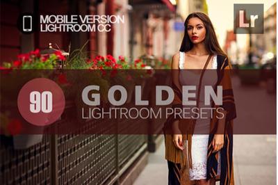 90 Golden Lightroom Mobile Presets