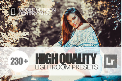230+ High Quality Lightroom Mobile Presets