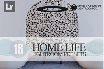 16 Home Life Lightroom Mobile Presets
