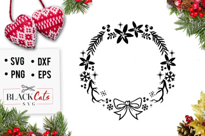 Christmas frame SVG