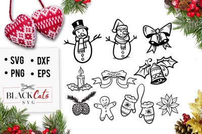 Winter doodles SVG