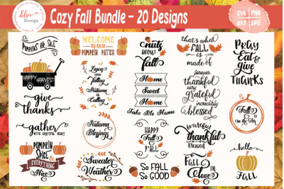 Fall Thanksgiving Quotes SVG Bundle