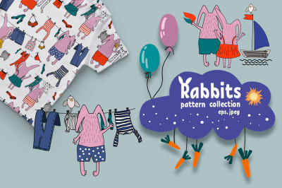 Rabbits pattern collection