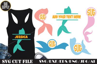 Mermaid Monogram SVG Cut File