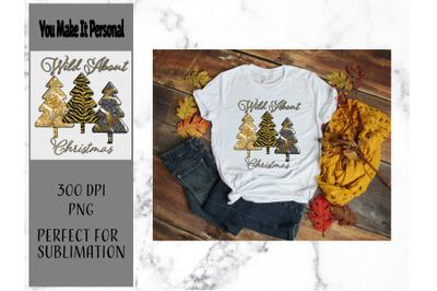 Wild About Christmas Design, Animal Print Trees