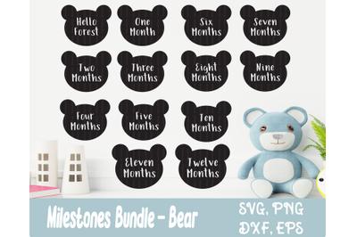Baby Milestone - Bear SVG Files