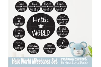 Baby Milestones - Hello World SVG Files