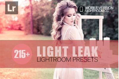 215+ Light Leak Lightroom Mobile Presets