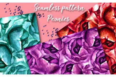 "Seamless pattern ""Peonies"""