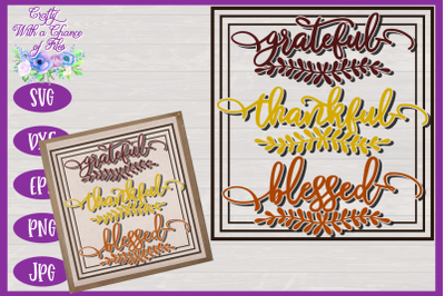 Grateful Thankful Blessed SVG | Fall SVG | Autumn SVG } Thanksgiving S