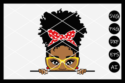 Afro Girl SVG, Puff, Peek a Boo, Black Girl Magic, Afro, Instant Downl
