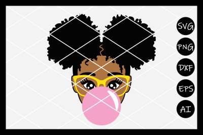 Afro Girl SVG, Puff, Black Girl Magic, Afro, Instant Downl