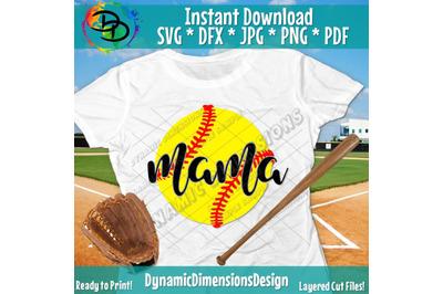 Softball Svg, Softball Mama, Softball Mom, Momma, Cricut Designs, Svg