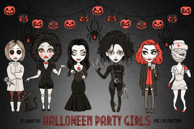 Halloween Costumes Party Girls Set