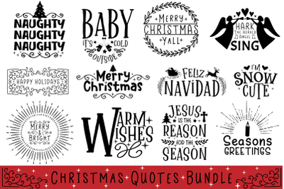 Christmas Quotes Bundle