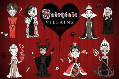 Fairytale Villain Girls Graphics Set