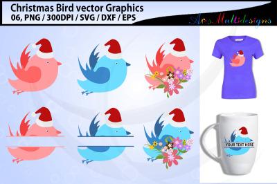 Christmas Birds svg / Christmas love birds svg / floral birds svg