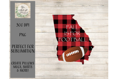 Fall Is For Football - Georgia Football Design - Sublimation Template