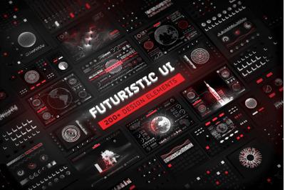 Futuristic UI Kit - 200 design elements