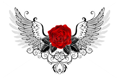 Angel Red Rose