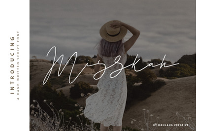 Misskah Script Font