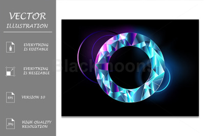 Round Faceted Banner