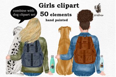 Girls clipart, Best Friend clipart,Planner Girls, Mug Design