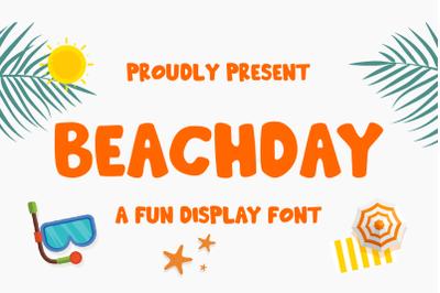 Beachday- Fun Display Font