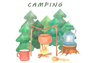 camping postcard template
