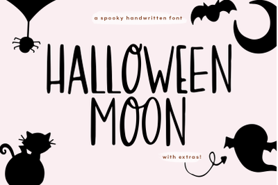 Halloween Moon - Handwritten Font with Extras!