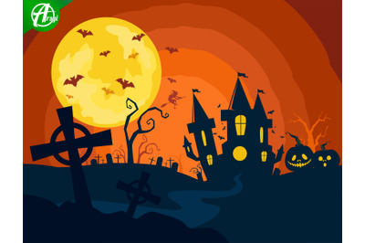Halloween night background part 1