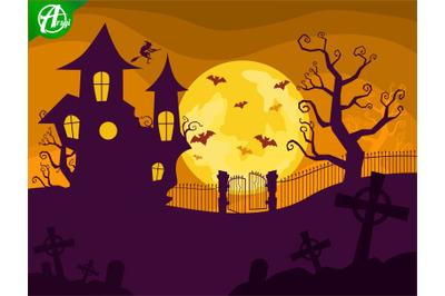 Halloween night background part 2
