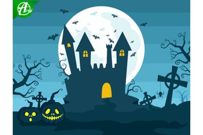 Halloween night background part 4