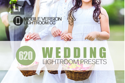 620+ Wedding Lightroom Mobile Presets