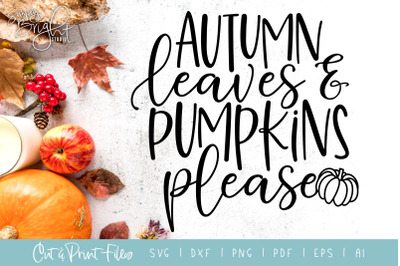 Autumn Leaves - DXF/SVG/PNG/PDF Cut & Print Files