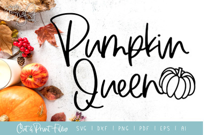 Pumpkin Queen - DXF/SVG/PNG/PDF Cut & Print Files