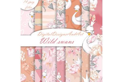 Wild swans patterns