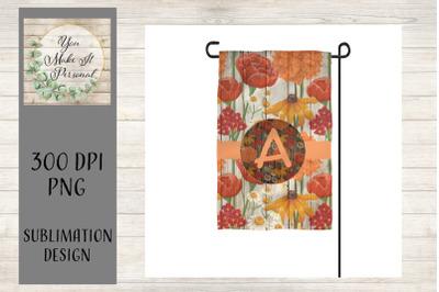 Fall Garden Flag, Printable for Sublimation