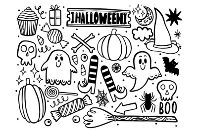 Halloween set outline