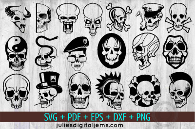 Skull SVG bundle by Julies Homemade Jems