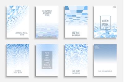 Blue mosaic digital covers,brochures