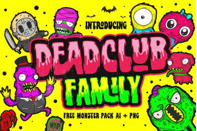 Deadclub Family Font + Bonus
