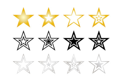 Stars Clip Art Set