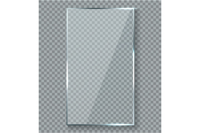 Glossy reflection effect. Transparency window glass plastic with brigh