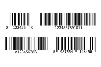 Product code. Line bar stickers with barcode for scan uniquecode bars
