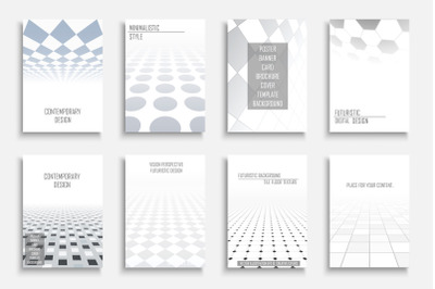 Geometric future covers, brochures